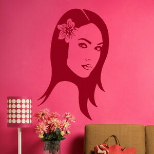 WOMAN WITH FLOWER IN HAIR SILHOUETTE GRAPHIC DECAL WO20 - <span itemprop='availableAtOrFrom'>Tamworth, Staffordshire, United Kingdom</span> - You Are welcome to return your wall stickers if you are unhappy for any reason please notify within 14 days, should the return be due to an error by us we will pay return  - <span itemprop='availableAtOrFrom'>Tamworth, Staffordshire, United Kingdom</span>