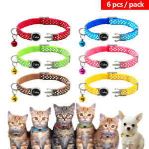 6pcs-Pet-Puppy-Small-Dog-Kitten-Cat-Breakaway-Collar-Safety-Quick-Release-amp-Bell