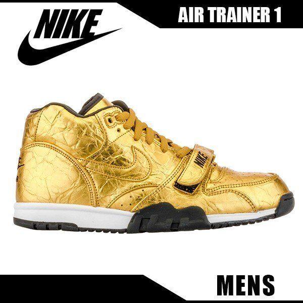 Nike Air Trainer 1 Super Bowl 50 SB50 NFL gold SUPREME kobe Foamposite Men's 8