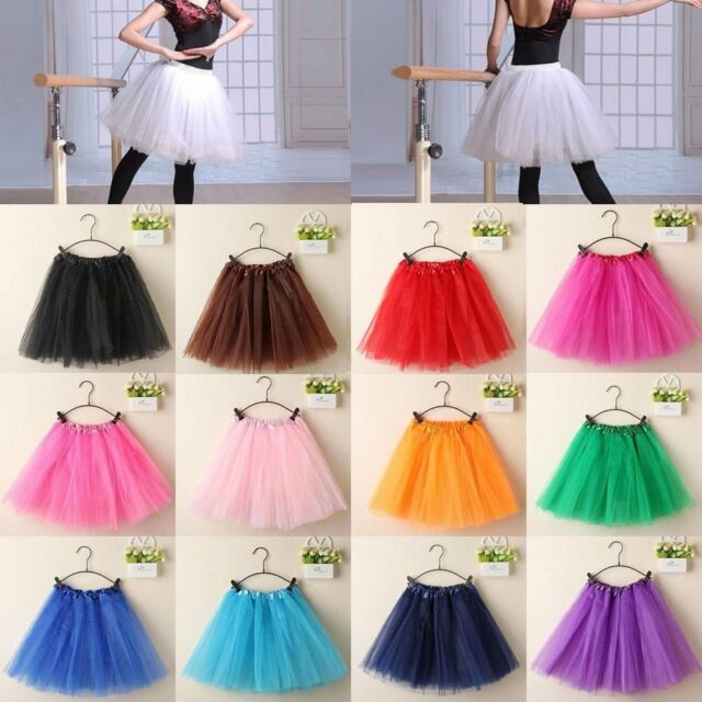 Adults Girl Tutu Ballet Skirt 3 Layer Tulle Costume Fairy Party Hens Night Hot