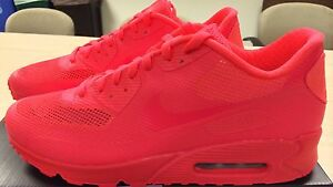 f2cbe2dfa7f6 Image is loading Nike-Air-Max-90-Hyperfuse-Premium-Solar-Red-