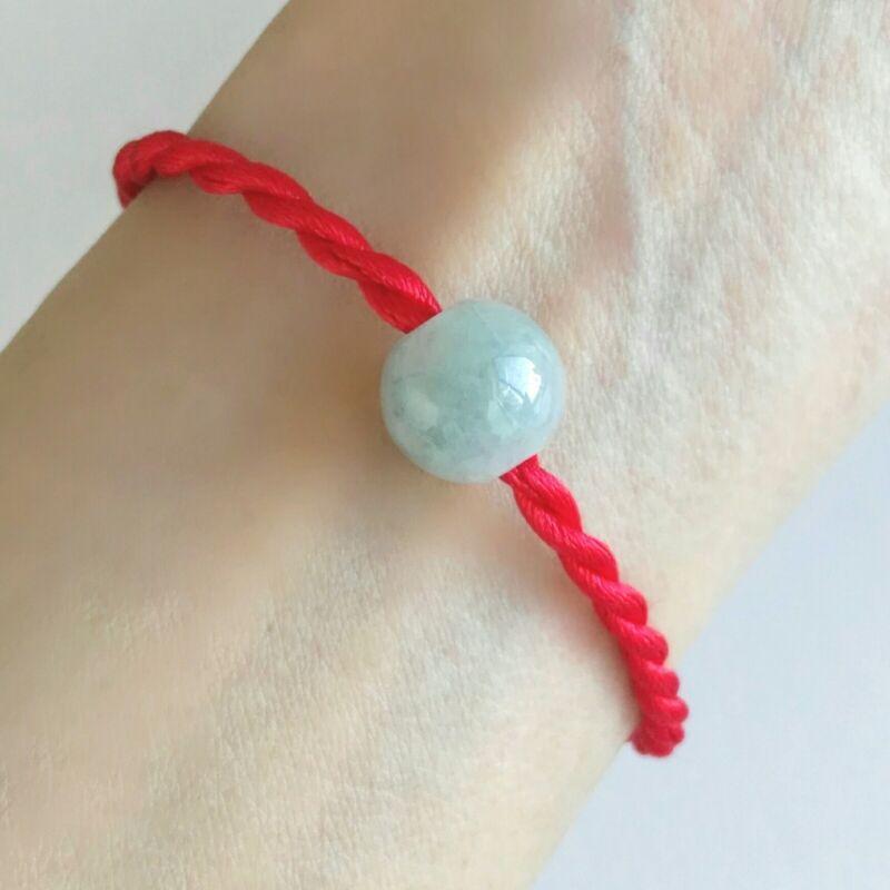 Red Woven Bracelet Man Girls Lovers Bracelet Jade Beads Lucky Present Red Rope