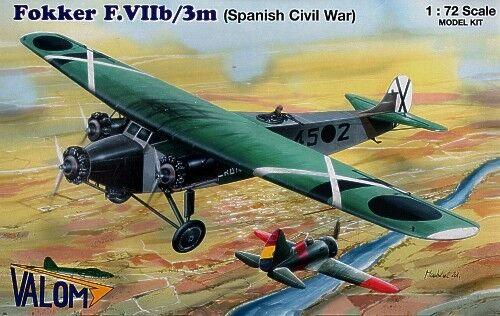 ahorra hasta un 50% Valom 1 72 Fokker F. Viib     3m  72054  servicio considerado