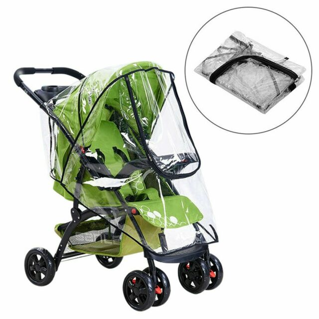 Bugaboo Frog OR Cameleon  1,2,3 Raincover Baby Stroller Black Clear Rain Cover