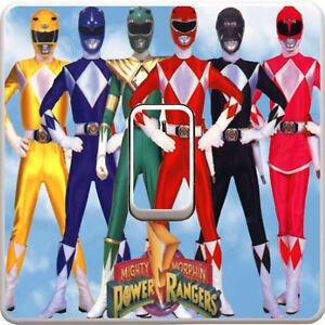 Power-Rangers-Movie-Interrupteur-De-Lumiere-Vinyle-Autocollant-Decalque-Pour-Enfants-Chambre-a