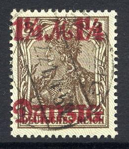 DANZIG-1920-20-Aug-1-Mk-Surcharge-grey-burelage-postally-used-expertised