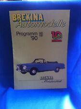 Brekina Automodelle Prospekt 90 DKW MB BMW Ford VW Opel Magirus Büssing