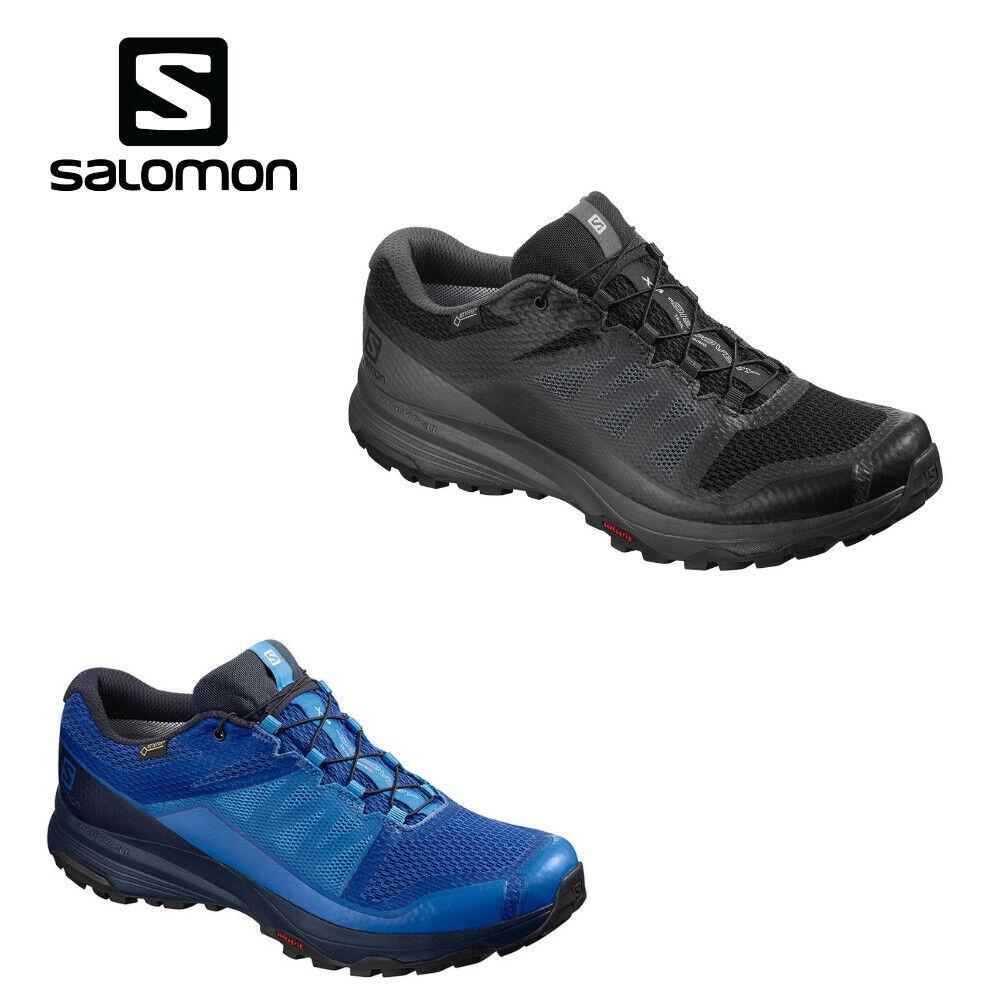 Salomon XA Discovery GTX hommes Trail Laufchaussures noir bleu 2019