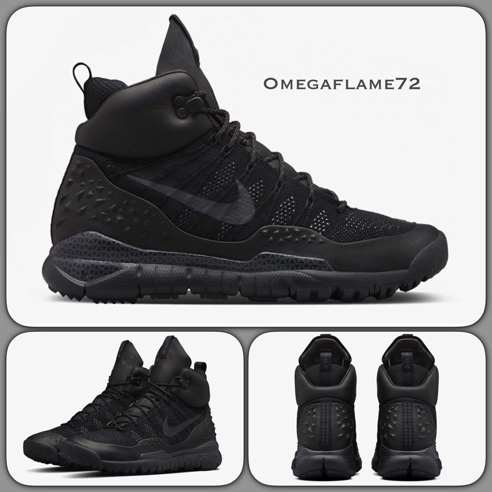 Nike Lupinek Flyknit ACG 826077-002 Reino Reino 826077-002 Unido 12 EE. UU. 13 Negro Negro cfb056