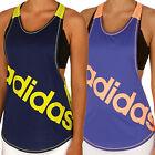 adidas Performance Womens Dance Racerback Tank Top Logo Gym Vest Tee T-Shirt