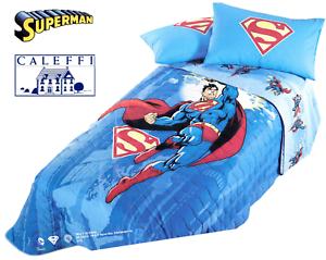 1 Piazza. Copriletto Trapuntato Superman Energy Trapuntino Caleffi Singolo