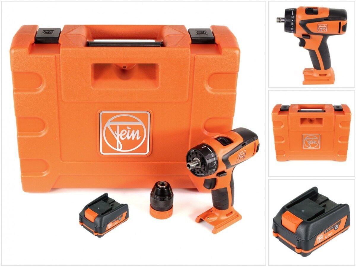 FEIN ASCM 12 QC 4-Gang Brushless Bohrschrauber im Transportkoffer + 2,5 Ah Akku