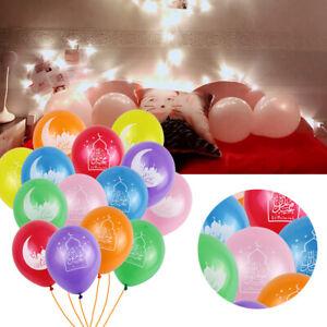 10-20pcs-Multicolore-Latex-Ballons-Eid-Moubarak-Ramadan-Parti-Decoration-Fournitures