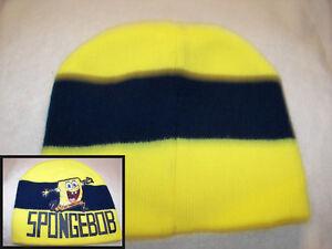 59cab0ff125fc Hats Boys  Accessories NEW Boys Beanie Hat Gloves 2 Pc Set Yellow SpongeBob  Acrylic Knit Cap ...