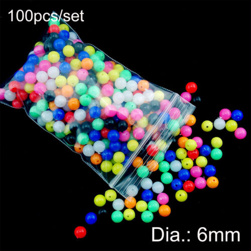 Stoppers PE Plastic Round Double Pearl  Fishing Cross Beads Floats Balls Drill