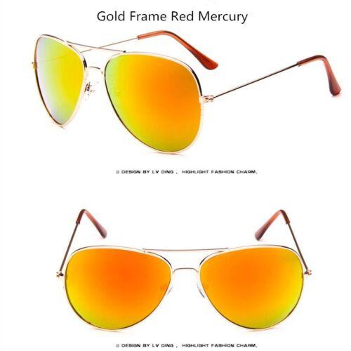 New Fashion Vintage Sunglasses Flat Lens Mirror Women Men Metal Frame Glasses