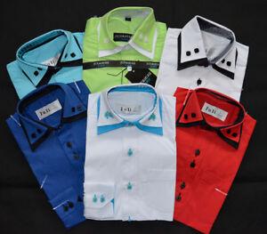 Das Bild wird geladen Kinder-Hemd-Junge-Bundes-Hemd-Fest-Anzug-Langarm- c67a8c8b0f