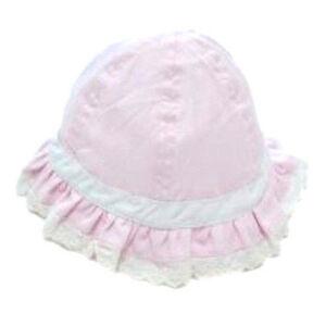 Pesci Baby Girls Summer Sun Hat Pink Lace Cotton Cloche Hat Bonnet 0 ... c7bdd11fc8e