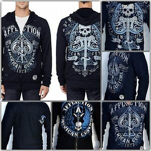 Affliction-Death-Spade-Reversible-Hoodie-A5941-NWT-Free-Shipping