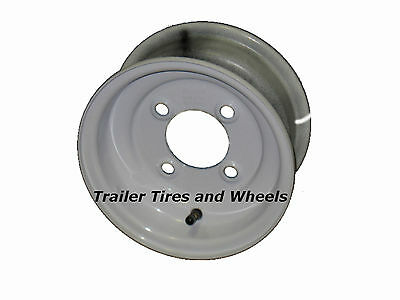 "8"" 4 Lug White Steel Trailer Wheel for 4.80-8 and 5.70-8 Trailer Tires"