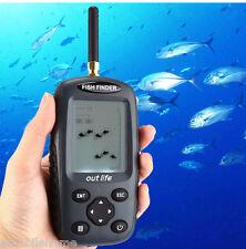 FF998 Wireless Dot Matrix Fish Finder Rechargeable Sonar Sensor Echo Sounder New