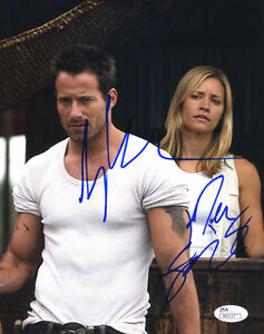 "(SSG) JOHNNY MESSNER & KADEE STRICKLAND Signed 8X10 ""Anacondas"" Photo - JSA COA"