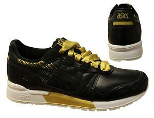 Details about Asics Tiger Gel-Lyte Black Gold Lace Up Shoes Womens Trainer  1192A034 001 B91D- show original title