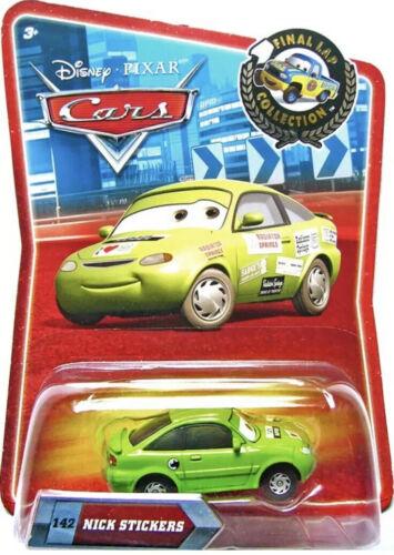 Nick Stickers #142 Final Lap-ROYAUME-UNI! DISNEY PIXAR CARS 1 2 3 Moulé Sous Pression 1:55