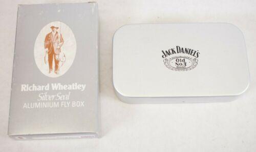 7 Aluminum Fly Box NOS RARE Richard Wheatley Silver Seal Jack Daniel/'s No
