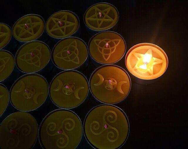 Silicone Tea light candle Mold Pentagram easy release 4 cavity Homemade