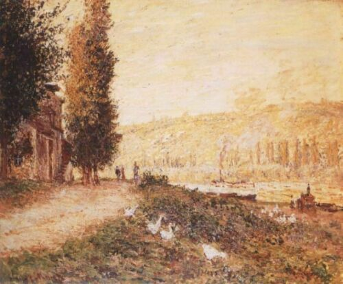 Banks of the Seine at Lavacourt MON070 Monet Poster Art Print A4 A3 A2 A1