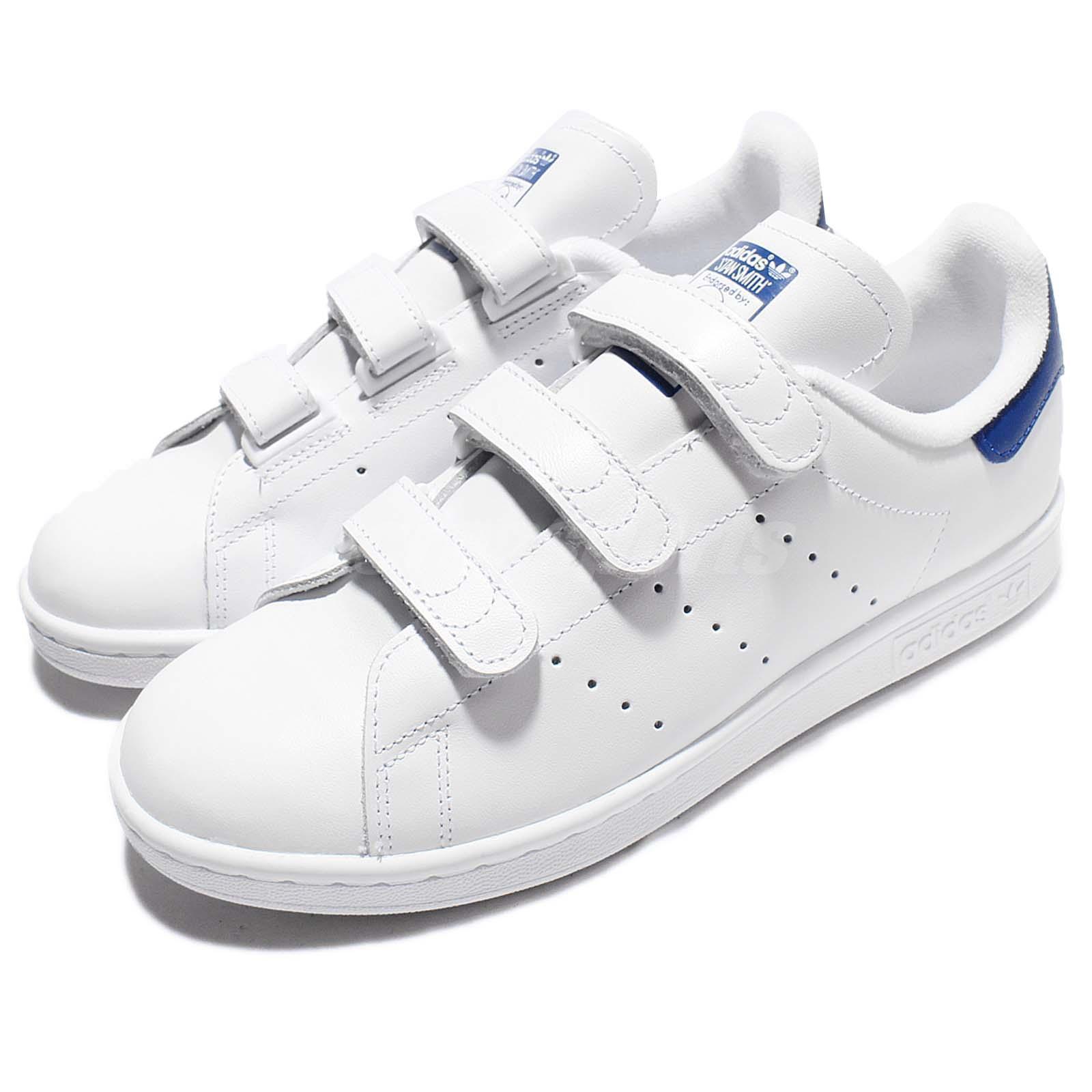 adidas Originals Stan Smith CF White Blue Leather Men Classic Shoes S80042