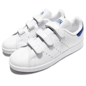 Cuir S80042 Originals Cf Hommes Bleu Stan Blanc En Chaussures Classiques Adidas Smith wHnqBwP