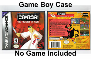 Samurai-Jack-The-Amulet-of-Time-Game-Boy-Advance-GBA-Custom-Case-NO-GAME