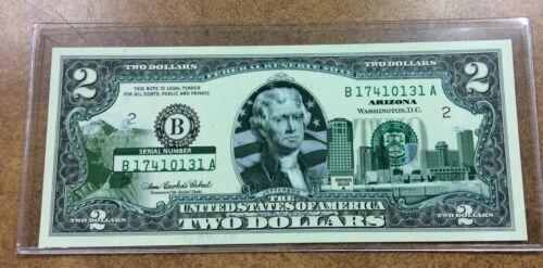 {BJSTAMPS}  2003 A $2 Federal Reserve Notes B NY  Colorized ARIZONA SKYLINE