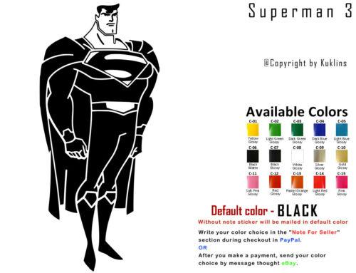 Superheroes Vinyl Decal Sticker Car Window Superman Batman Captain USA Seller
