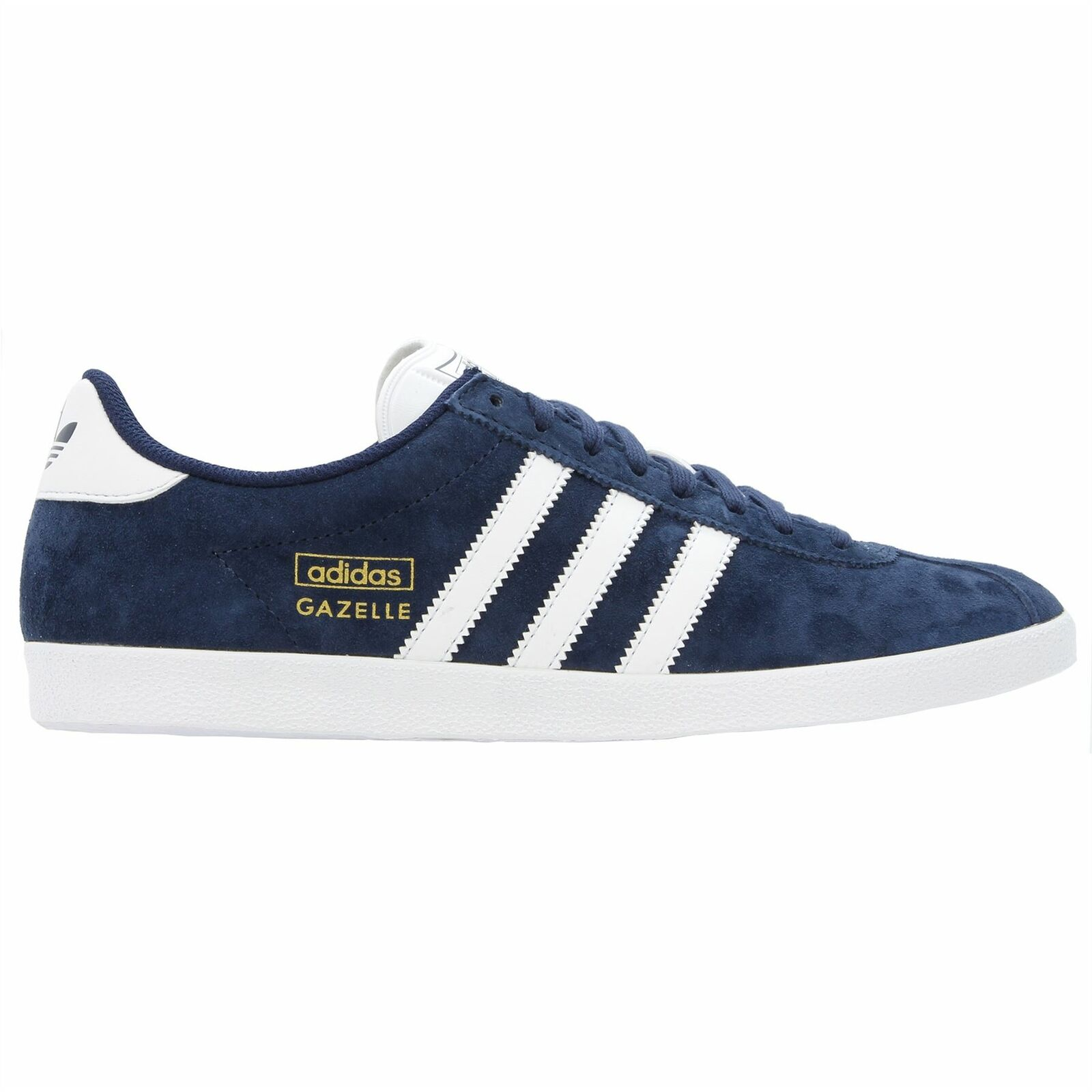 Adidas Mens Gazelle OG Lace Up Casual Trainers Navy  (Q21600)