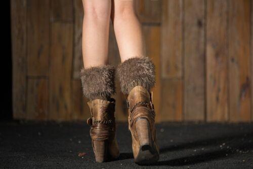 7 Colours Women Leg Warmers Winter Faux Fur Leggings Knitted Warm Toppers Gift