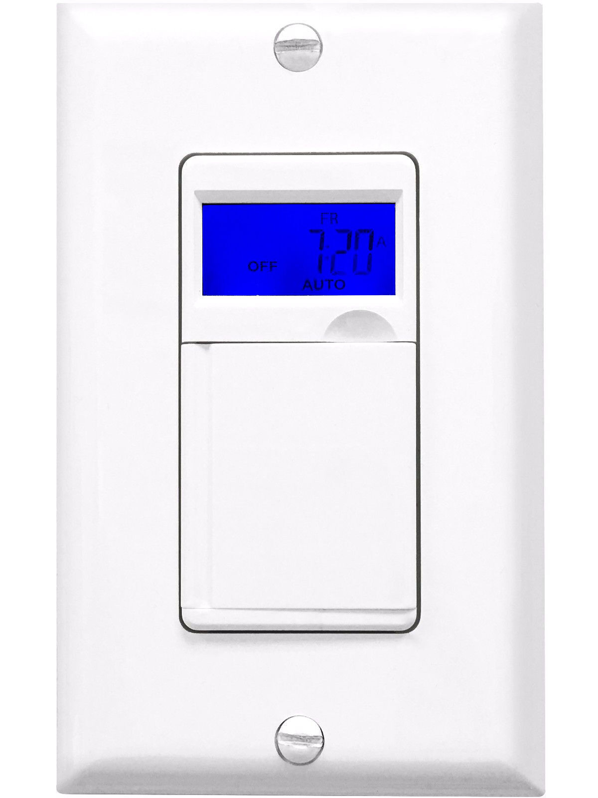 7 day programmable timer switch for motors and appliances white with blue lcd ebay. Black Bedroom Furniture Sets. Home Design Ideas