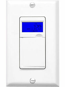7 day programmable timer switch for outdoor lights white with blue image is loading 7 day programmable timer switch for outdoor lights aloadofball Choice Image