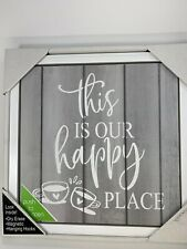 New Listinghidden Dry Erase Message Board Magnetic Hook Door Cabinet Our Happy Place Coffee