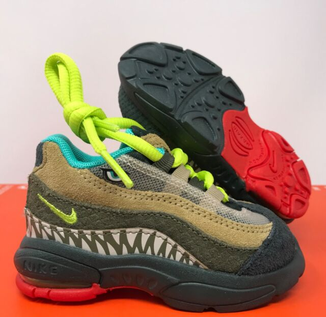 Nike Air Max 95 TD Toddler Outdoor Green Cyber Monster Sz 4c Ci9945-300