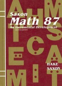 Saxon math 87 math 87 an incremental development by john saxon stock photo saxon math 87 math 87 an incremental development by john saxon and fandeluxe Image collections