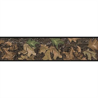 LEAF CAMO WALLPAPER BORDER peel & stick Mossy Oak woods hunting camouflage