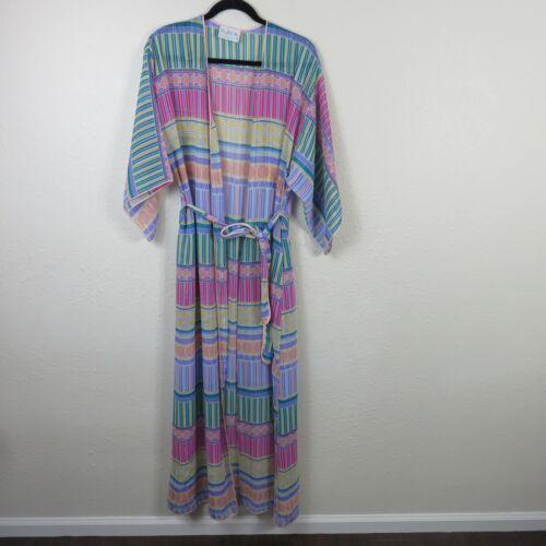 Vintage Mary McFadden Sheer Robe Kimono Made in US