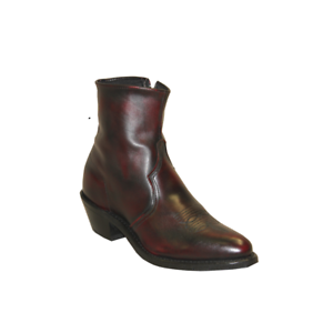 Sage by Abilene Men/'s 7 inch Black Cherry Cowhide Zipper Western Boots 3147