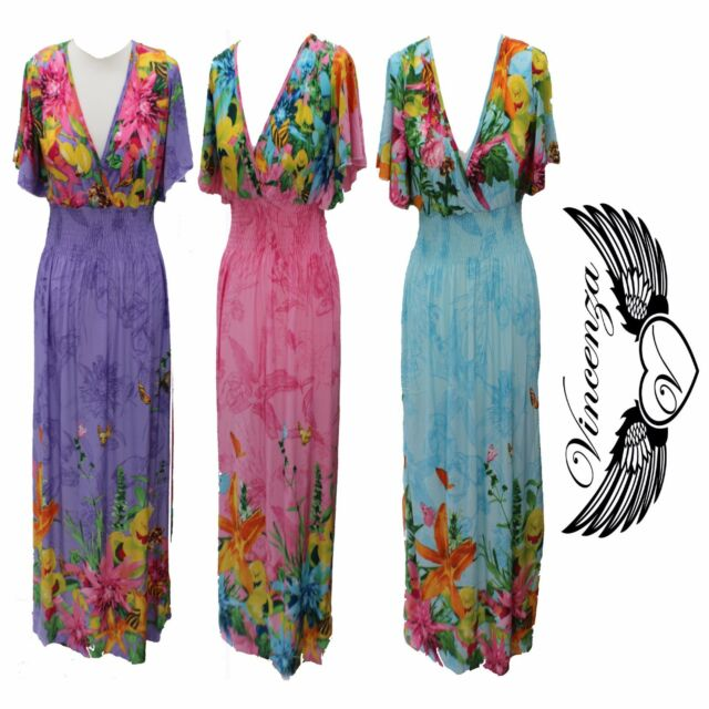 Womens Summer Boho Long Maxi Dress Evening Cocktail Beach Vintage Dresses Uk For Sale Online Ebay