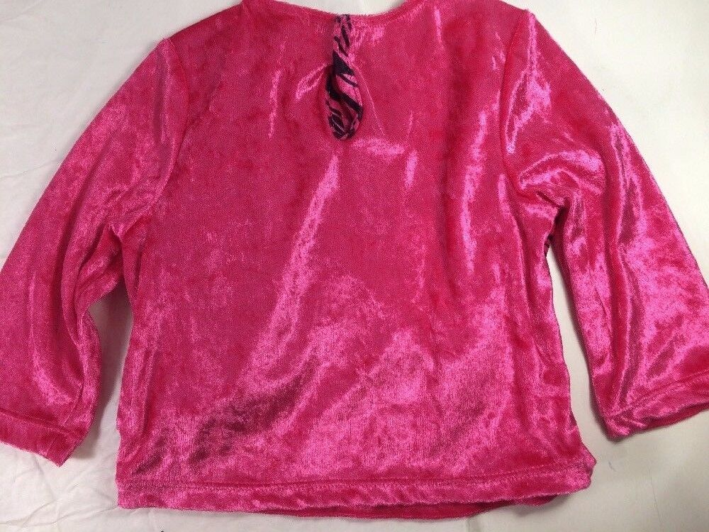 Rock Pop Star Costume Pink Black Zebra Leopard Dress Up Pretend Gymboree sz 3 4