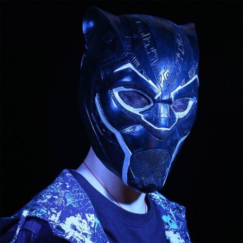 2018 New Black Panther Helmet Cosplay Avengers Infinity War Superhero Mask Latex