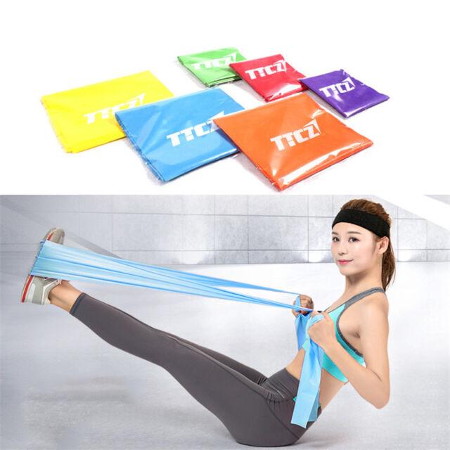 Widerstand Theraband Übung Yoga Gürtel Rubber Fitness Training Stretch Sport